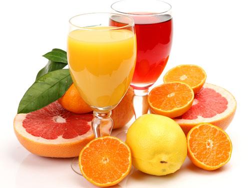 nước trái cây sau khi tập gym