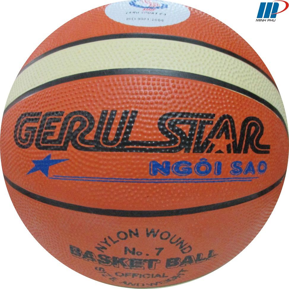 quả bóng rổ cao su 2 màu