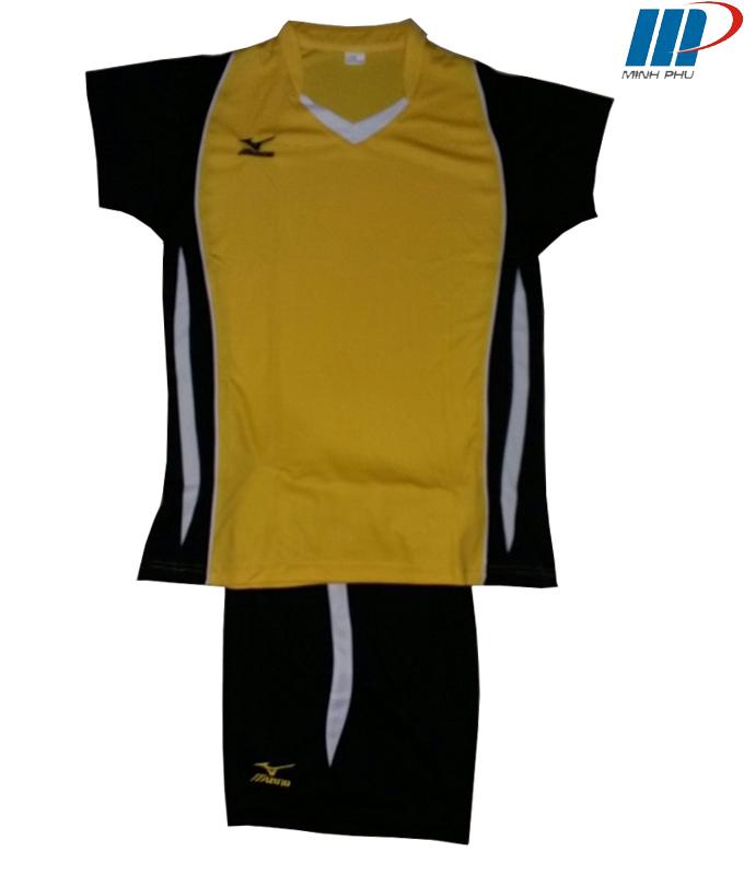 Quần áo bóng chuyền Mizuno vàng
