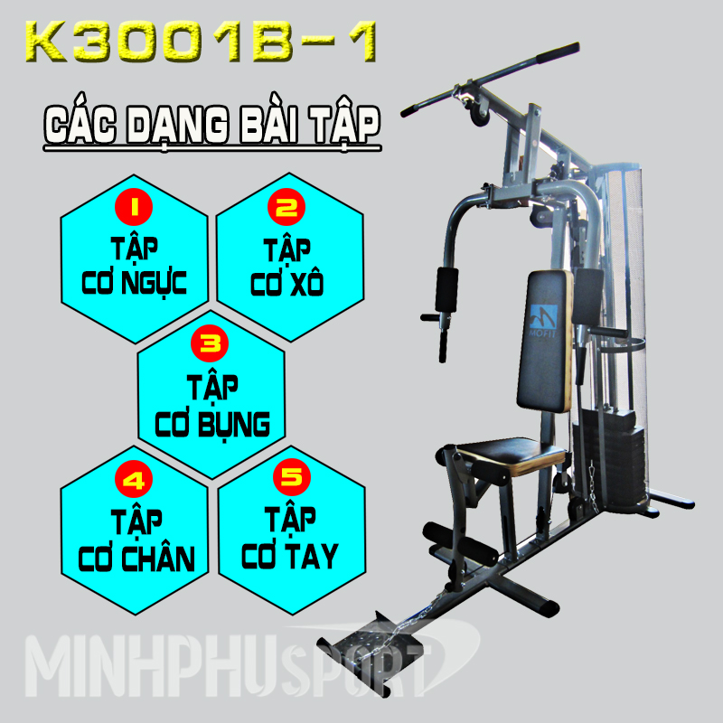 Giàn tạ đa năng K3001B-1