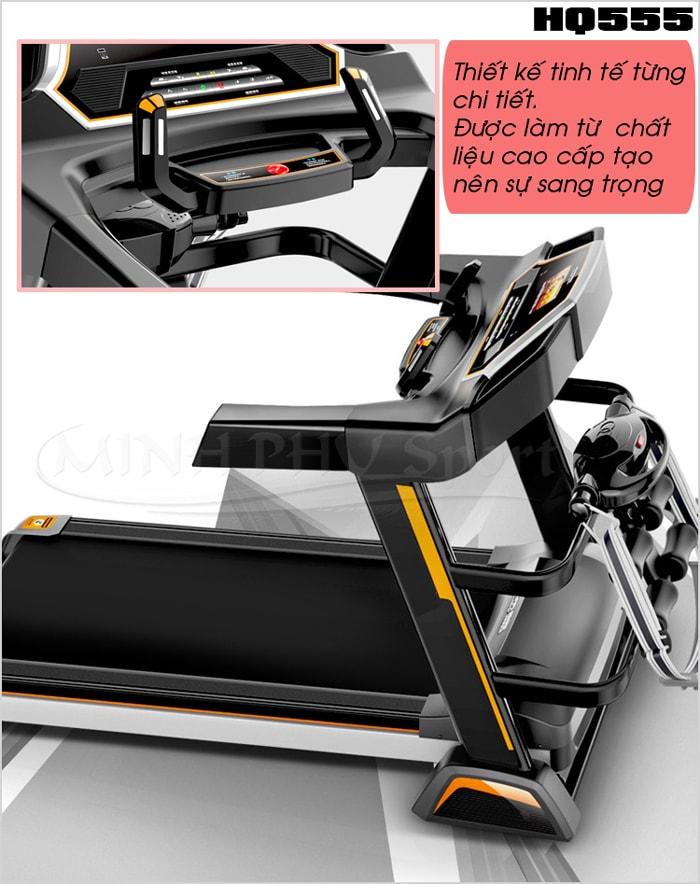 Máy chạy bộ điện HQ-555 thiết kế
