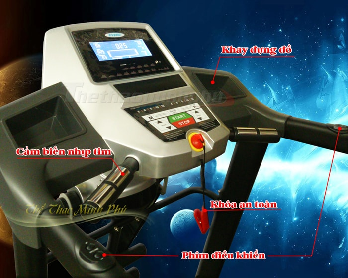 Máy chạy bộ điện DLY-ET2513B điều khiển