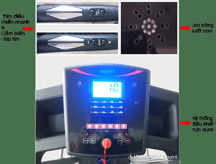 Máy chạy bộ điện MHT-400 điều khiển