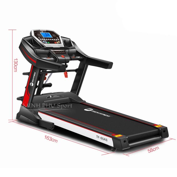 Máy chạy bộ điện Tech Fitness TF-05AS kích thước