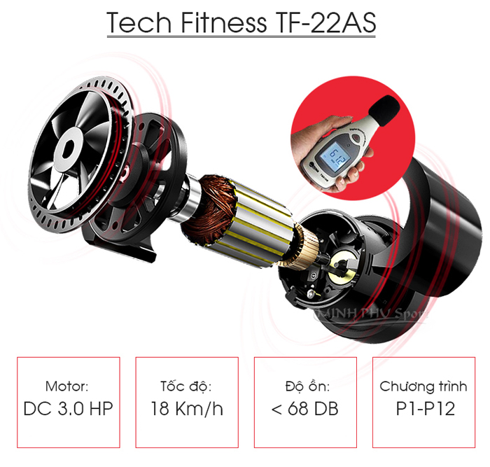 Máy chạy bộ Tech Fitness TF-22AS