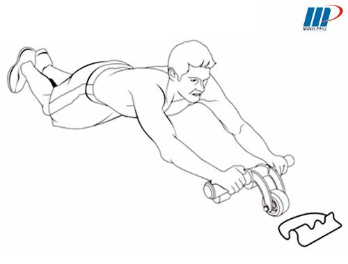 Bài tập với bánh xe tập bụng AB Slimmer