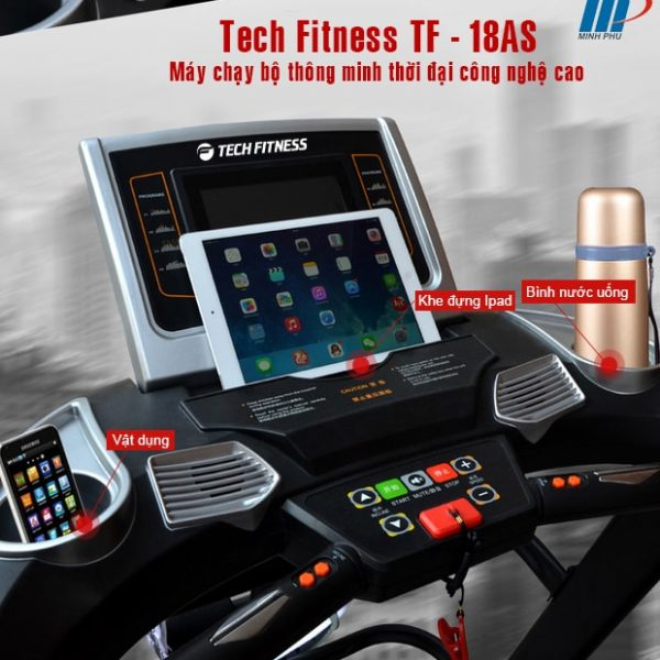 Máy chạy bộ điện Tech Fitness TF-18AS điều khiển