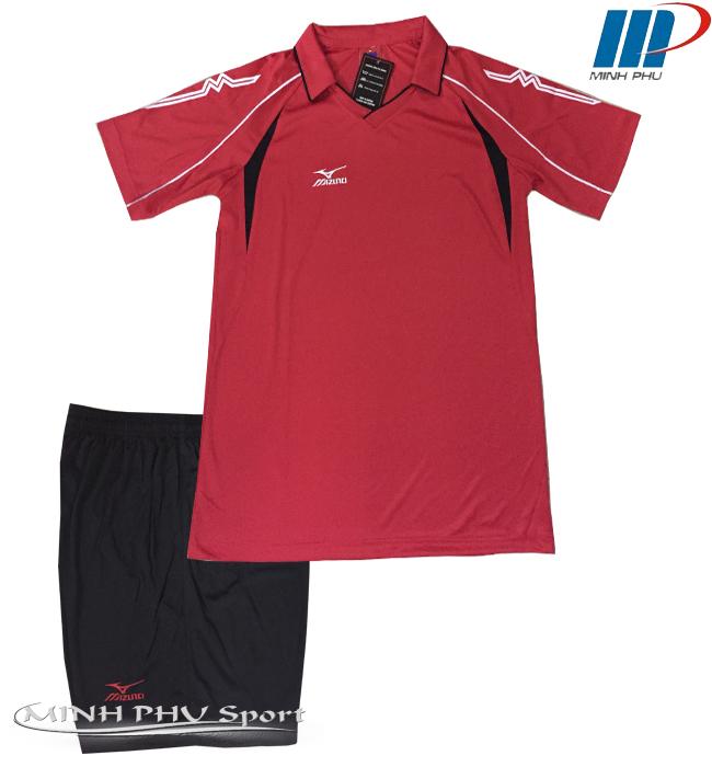Quần áo bóng chuyền nam Mizuna đỏ