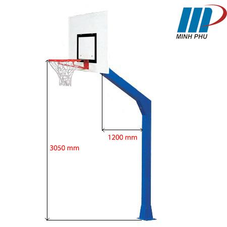 trụ bóng rổ cố định BS8875