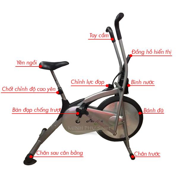 xe đạptập phục hồi chức năng Air Bike