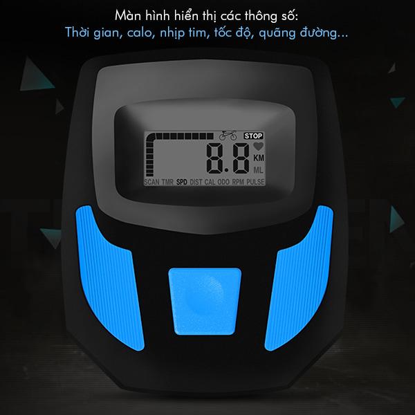 xe đạp tập thể dục YB-6800 - đồng hồ