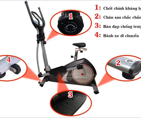Tác dụng xe đạp tập DLY-CT5818A