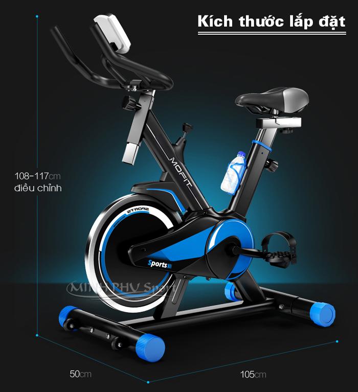 Kích thước xe đạp tập MHS-600