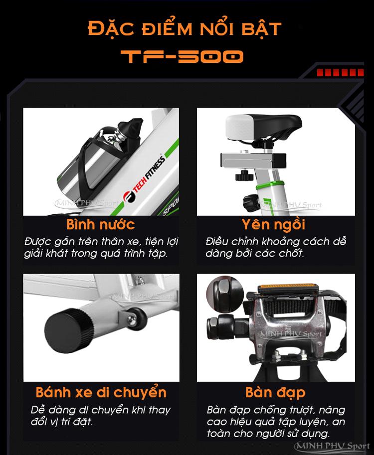 Chi tiết xe đạp tập thể dục TF-500