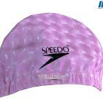 Mũ bơi speedo vải hồng