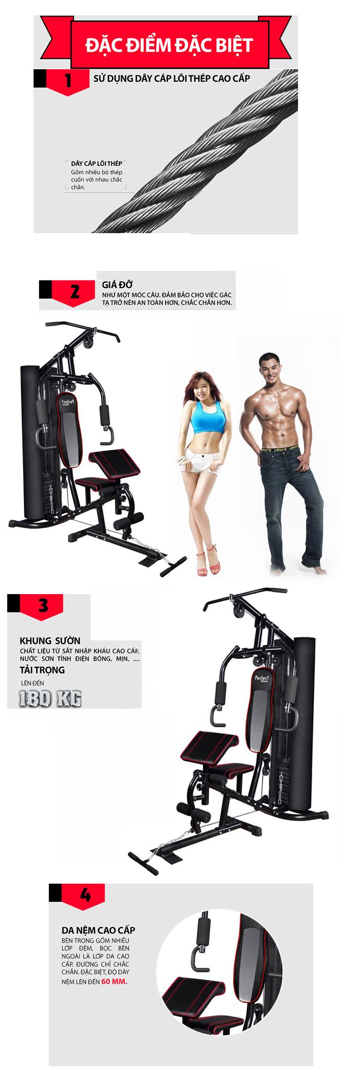 Giàn tạ đa năng Perfect Fitness ES 422
