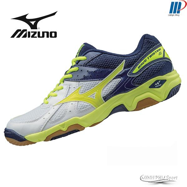giày bóng chuyền Mizuno Twister 4 tắng vàng