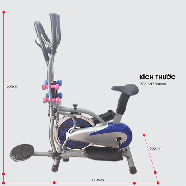 Xe đạp tập toàn thân K2085 _ Kích thước