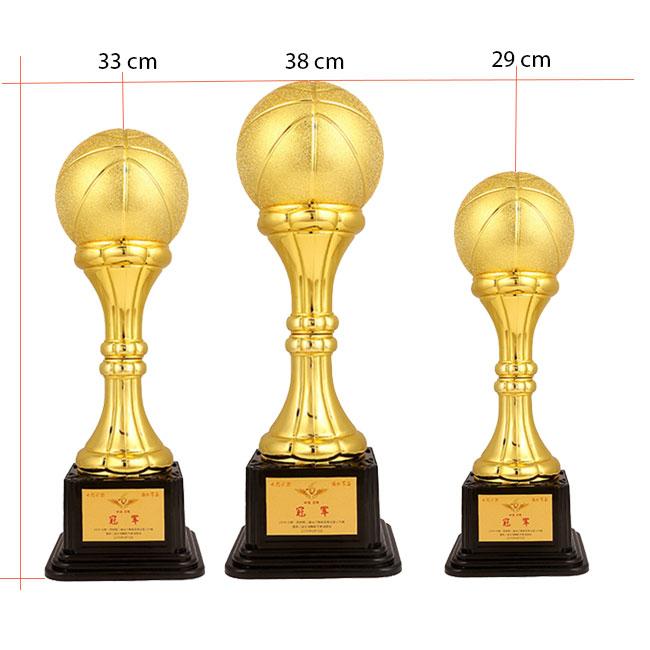 Kích thước cúp bóng rổ cao cấp X-9030