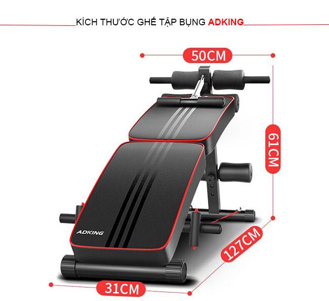 Kích thước ghế tập cơ bụng ADKing AD-178