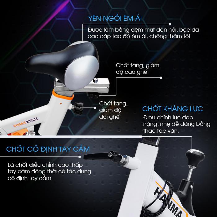 Xe đạp tập thể dục JTS-615 chi tiết