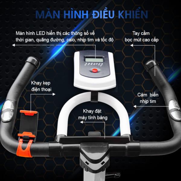 Xe đạp tập thể dục JTS-615 màn hình