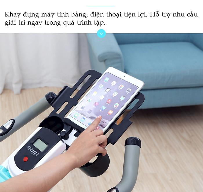 Xe đạp tập thể dục JTS-812T khay ipad