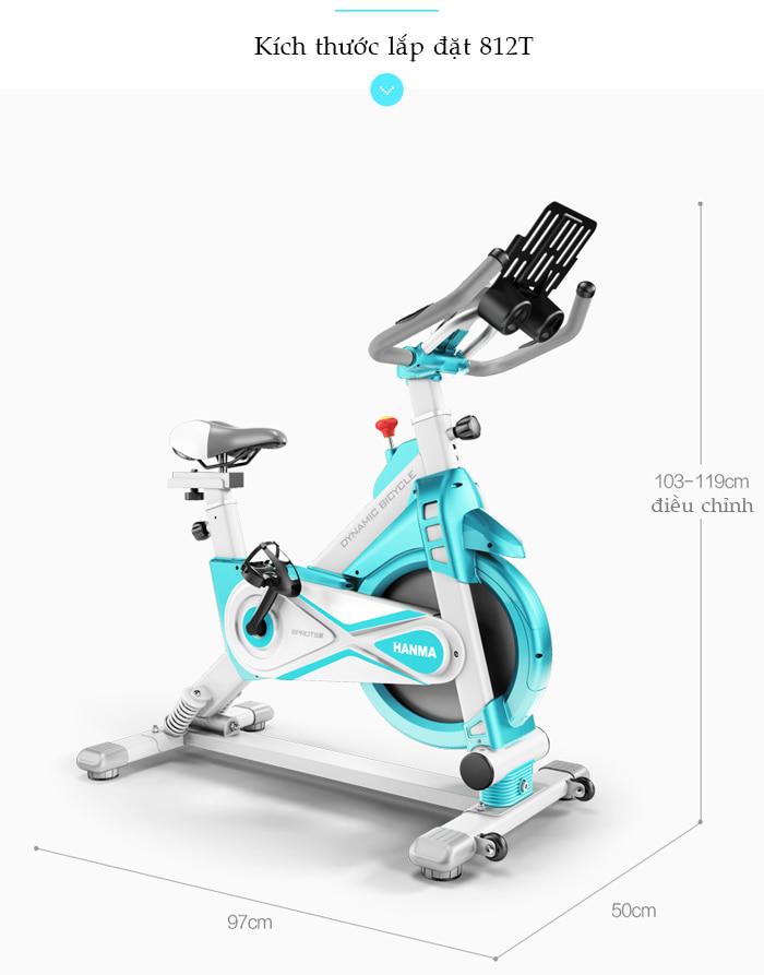 Xe đạp tập thể dục JTS-812T kích thước