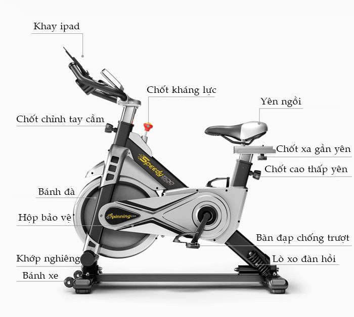 Xe đạp tập thể dục SP500 chi tiết