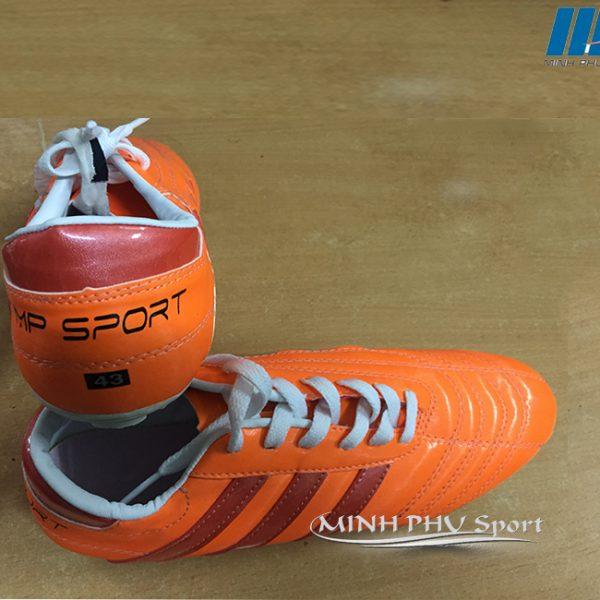 Giày bóng đá 3 sọc cam đỏ