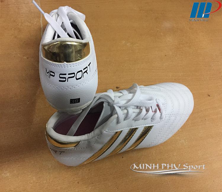 Giày bóng đá 3 sọc trắng đồng