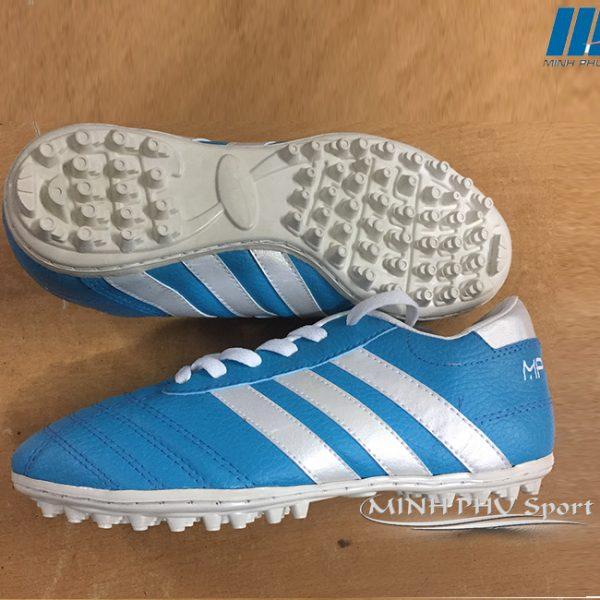 Giày bóng đá 3 sọc xanh ngọc