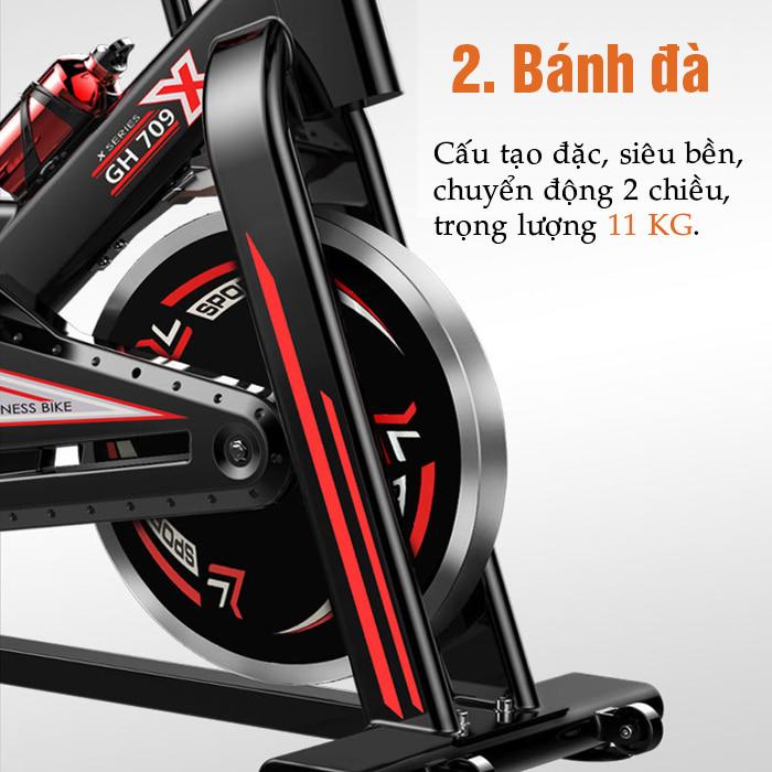 Bánh đà xe đạp tập thể dục GH-709