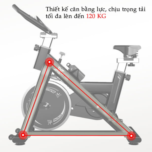 Xe đạp tập thể dục GH-709 cân bằng lực