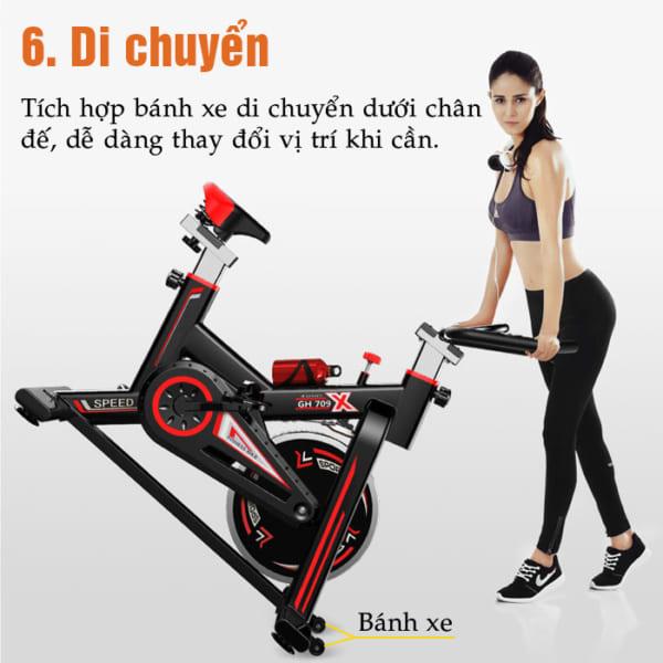 Di chuyển xe đạp tập thể dục GH-709