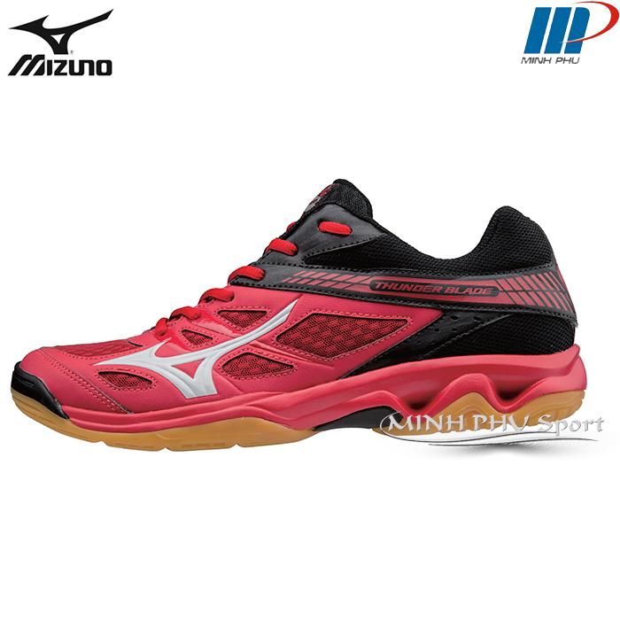 Giày cầu lông Mizuno Thunder Blade đỏ