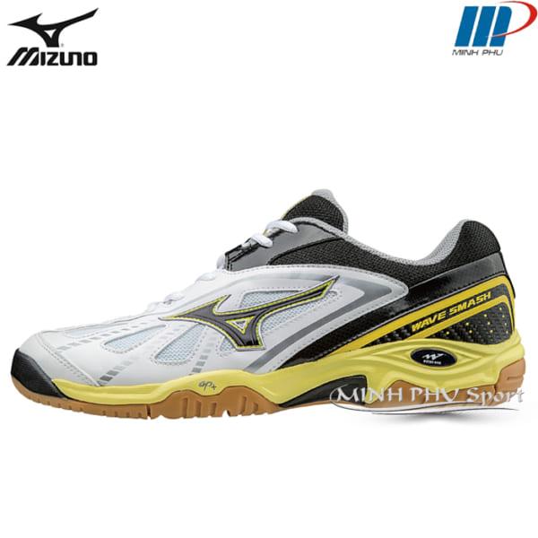 Giày cầu lông Wave Smash LO3 trắng vàng