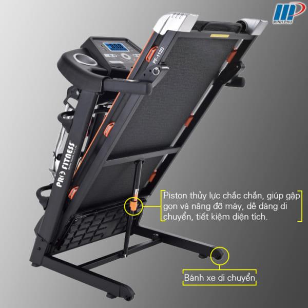 máy chạy bộ điện Pro Fitness PF-112D nhịp tim gập gọn