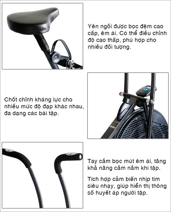 Chi tiết xe đạp tập thể dục Pro Fitness PF-06
