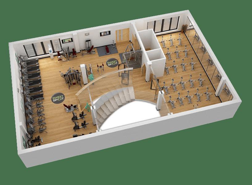 Phòng tập thể hình cỡ lớn