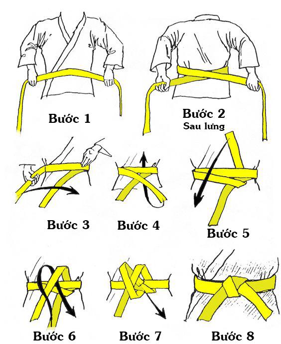 Cách thắt đai võ phục
