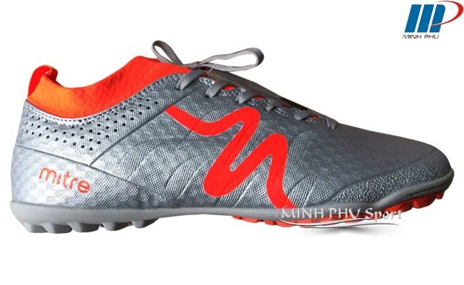 Giày bóng đá Mitre MT-160603 bạc cam