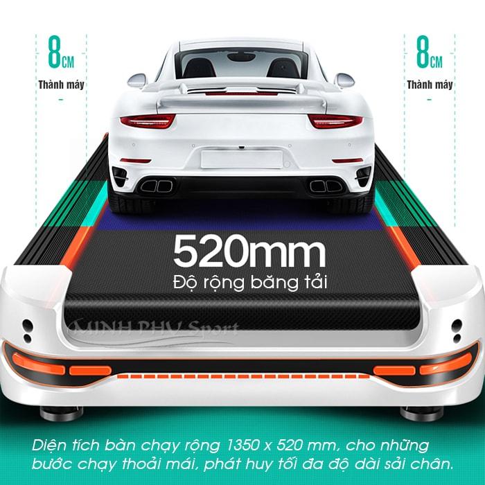 Máy chạy bộ điện HQ-9600 kích thước