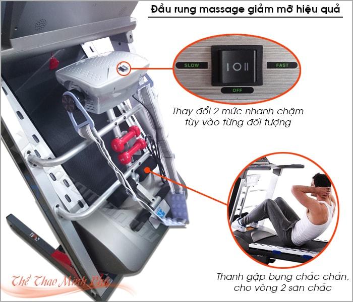 Máy chạy bộ điện MHT-1809AD đầu massage