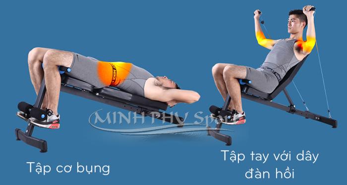Bài tập dây kéo trên ghế tập gym đa năng JN-Y09