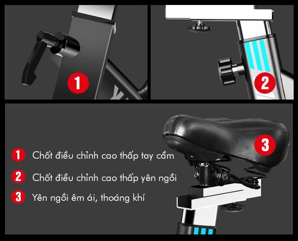 xe đạp tập thể dục YB-6800 - chi tiết