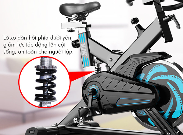 xe đạp tập thể dục YB-6800 - lò xo