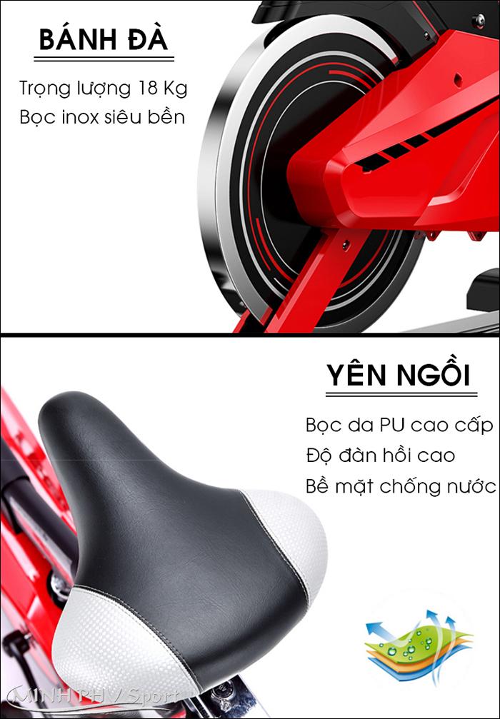 Bánh đà xe đạp tập MHS-615