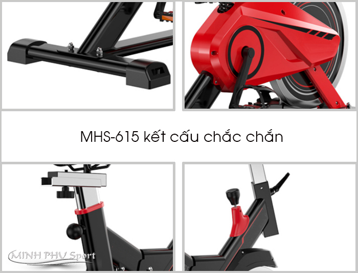 Chi tiết xe đạp tập thể dục MHS-615