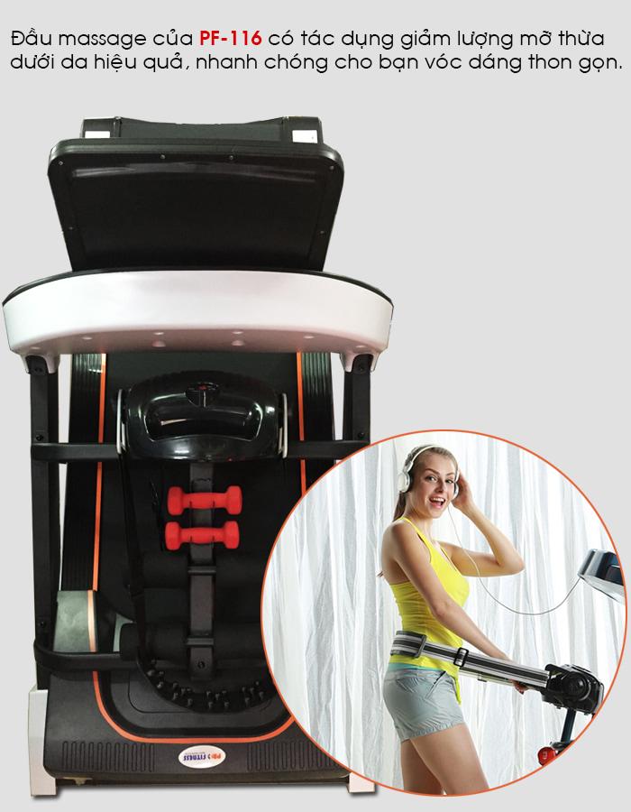 Máy chạy bộ điện Pro Fitness PF-116 massage